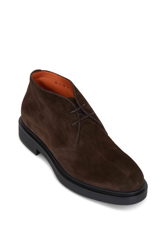 Santoni Desktop Brown Suede Boot