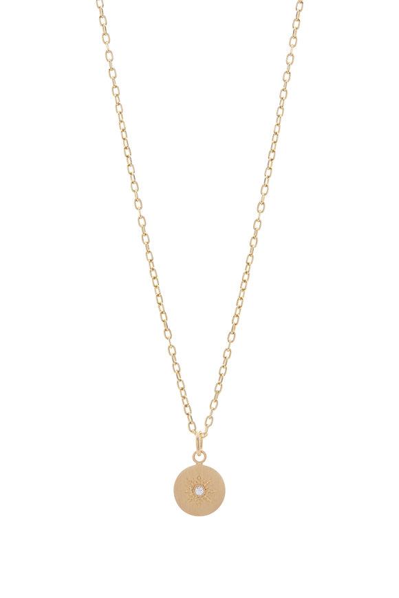 Caroline Ellen Diamond Sunburst Pendant Necklace