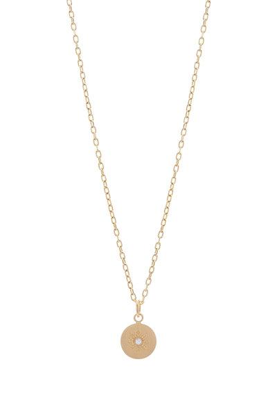 Caroline Ellen - Diamond Sunburst Pendant Necklace