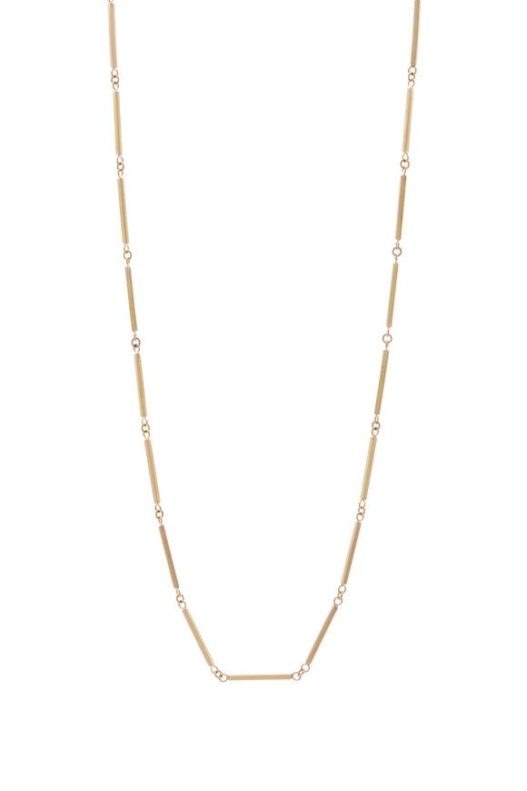 Caroline Ellen Bar Link Chain Necklace