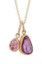 Caroline Ellen - Violet & Pink Sapphire Necklace