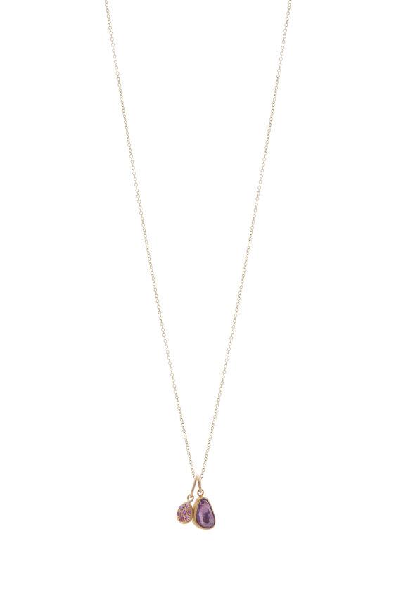 Caroline Ellen Violet & Pink Sapphire Necklace