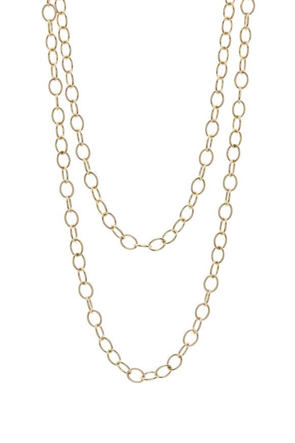 Caroline Ellen Yellow Gold Airy Oval Link Chain
