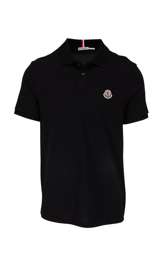 Moncler Black Short Sleeve Polo