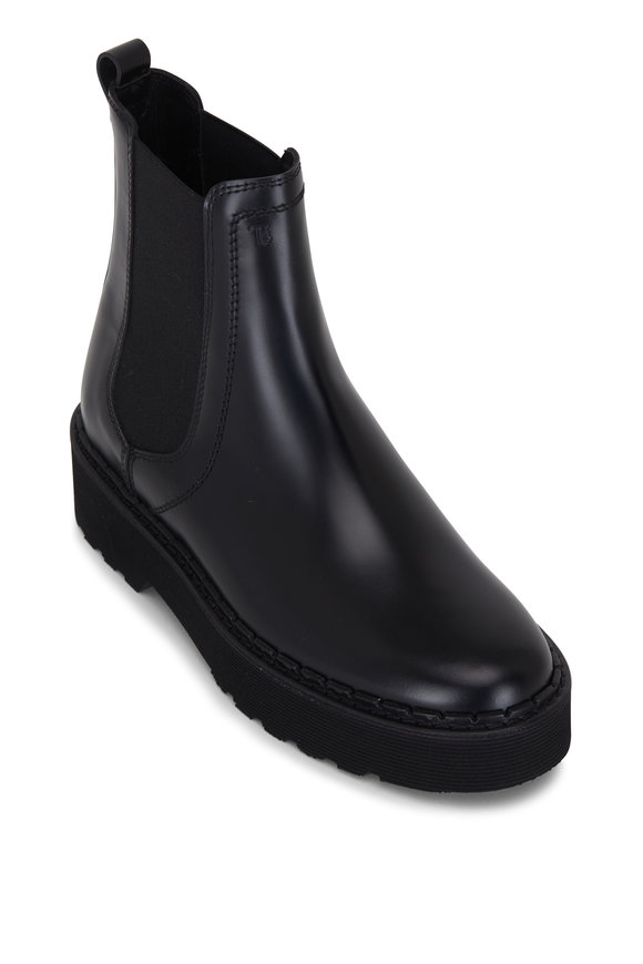 Tod's Black Leather Pull-On Boot, 45mm
