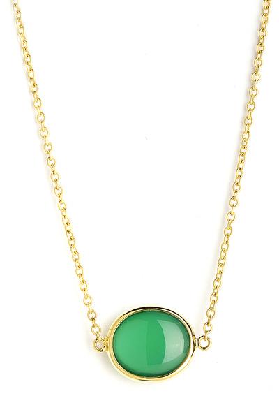 Syna - Chalcedony Cobblestone Pendant Necklace