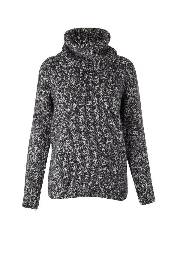 Dorothee Schumacher Hyper Luxury Black & White Turtleneck Sweater