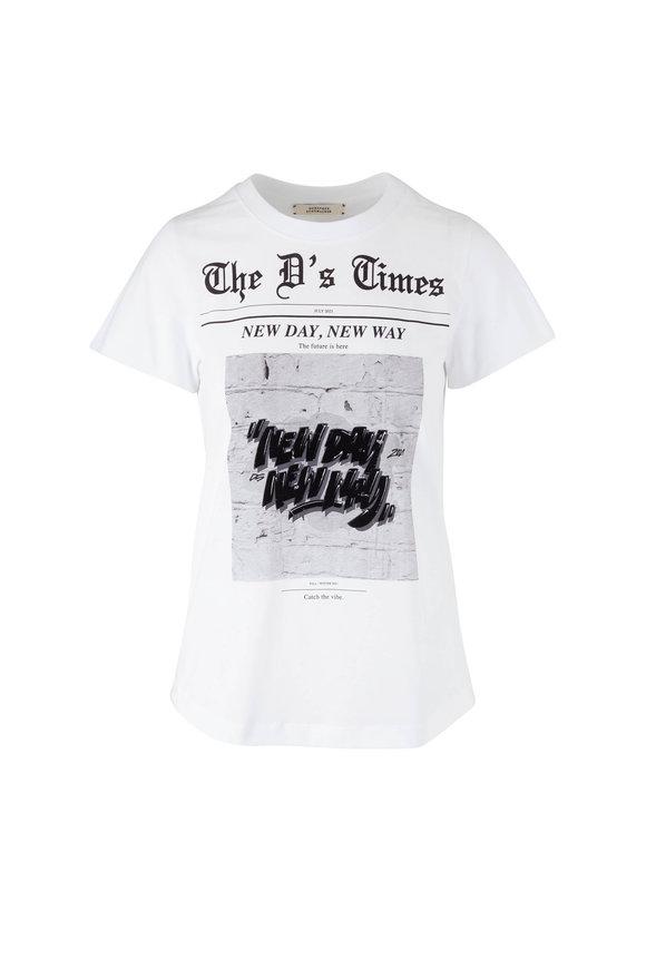 Dorothee Schumacher White New Day Graphic T-Shirt