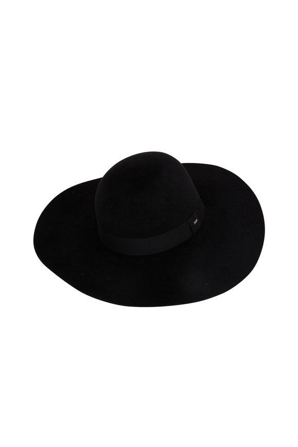Saint Laurent Black Felt Hat