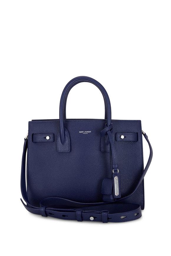 Saint Laurent Sac De Jour Azure Leather Baby Tote Bag