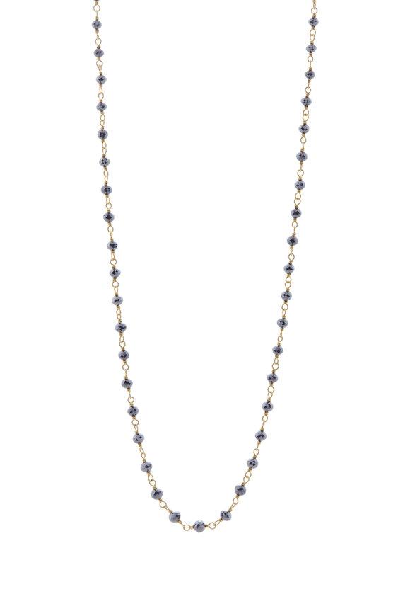 Caroline Ellen Black Diamond Bead Necklace