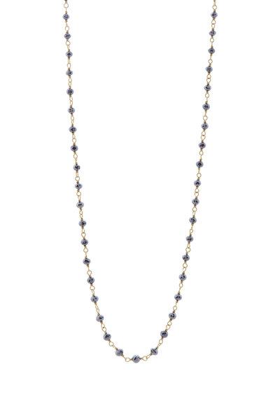 Caroline Ellen - Black Diamond Bead Necklace