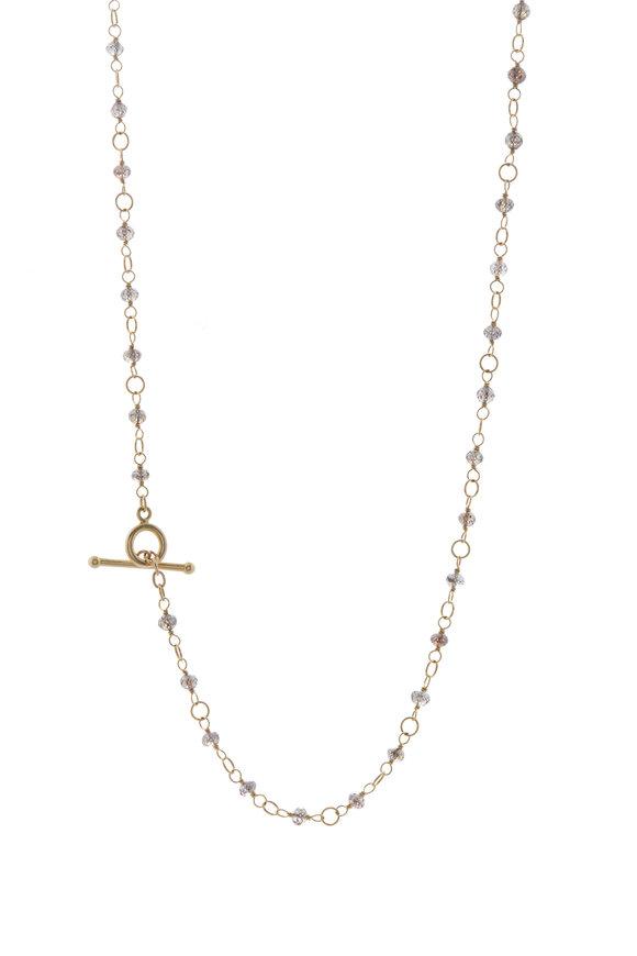 Caroline Ellen Cognac Diamond Wrap Necklace