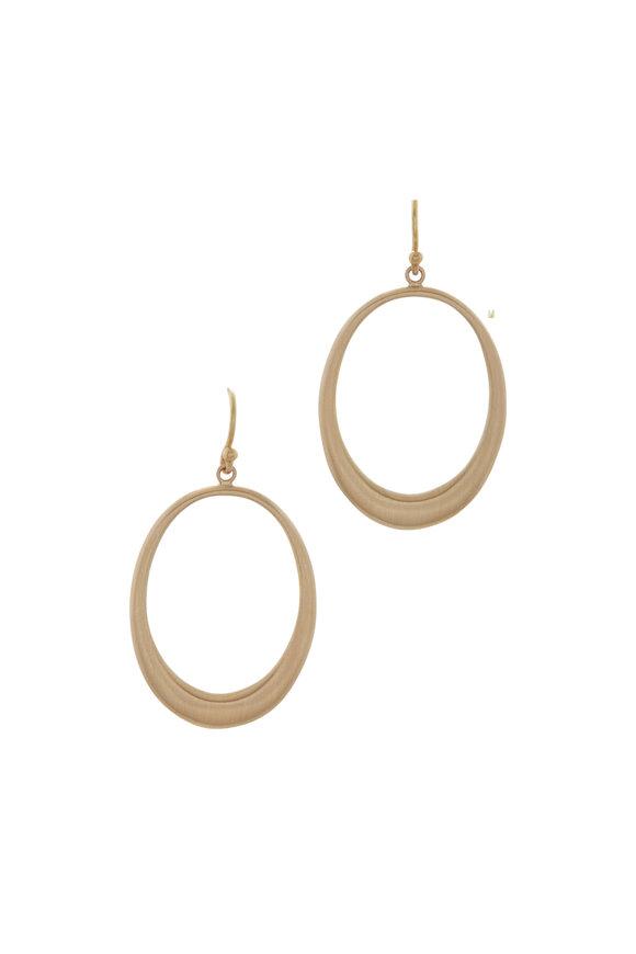 Caroline Ellen Hollow Oval Dangle Earrings
