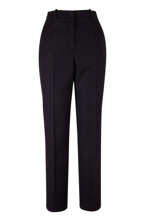 Michael Kors Collection Samantha Black Cotton Pant