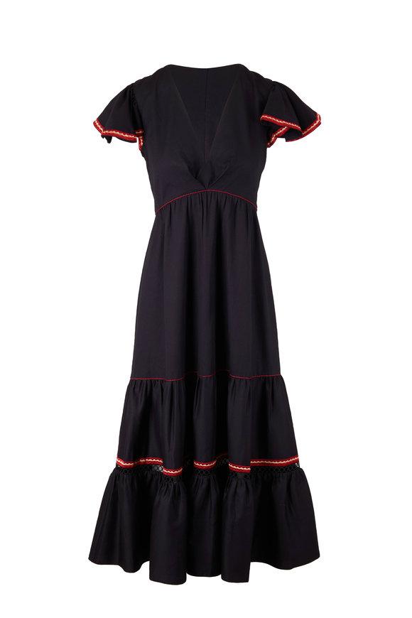 Sachin + Babi Podoma Black Flutter Sleeve Dress