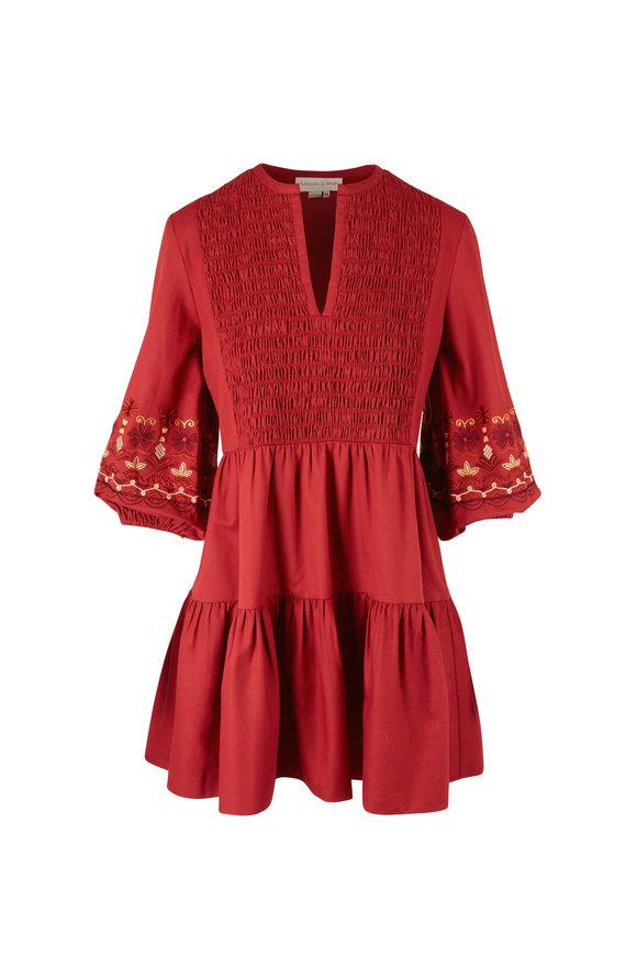 Sachin + Babi Kendall Rust Elbow Sleeve Dress