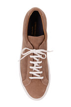Common Projects - Achilles Tan Suede Low Top Sneaker