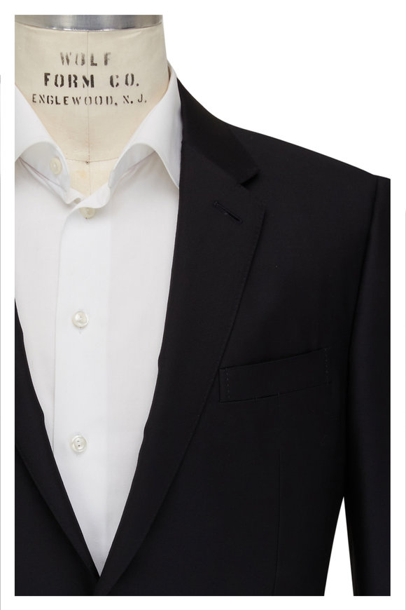 Ermenegildo Zegna Black Cool Effect Wool Suit
