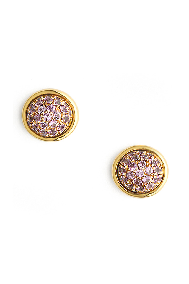 Small Pink Sapphire Stud Earrings