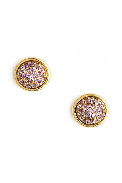 Syna - Small Pink Sapphire Stud Earrings