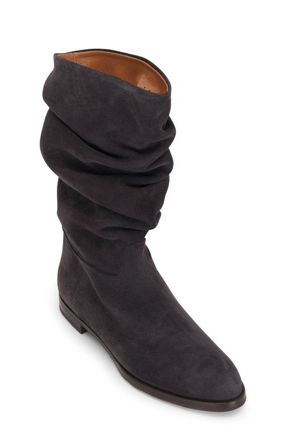Gravati Charcoal Suede Scrunchy Boot