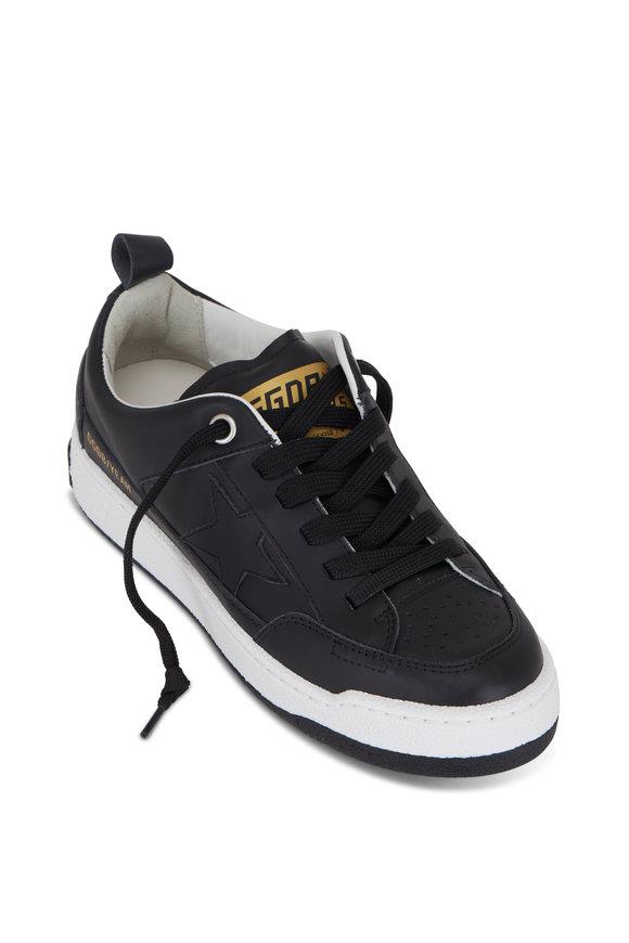 Golden Goose Yeah! Black Leather Low Top Sneaker