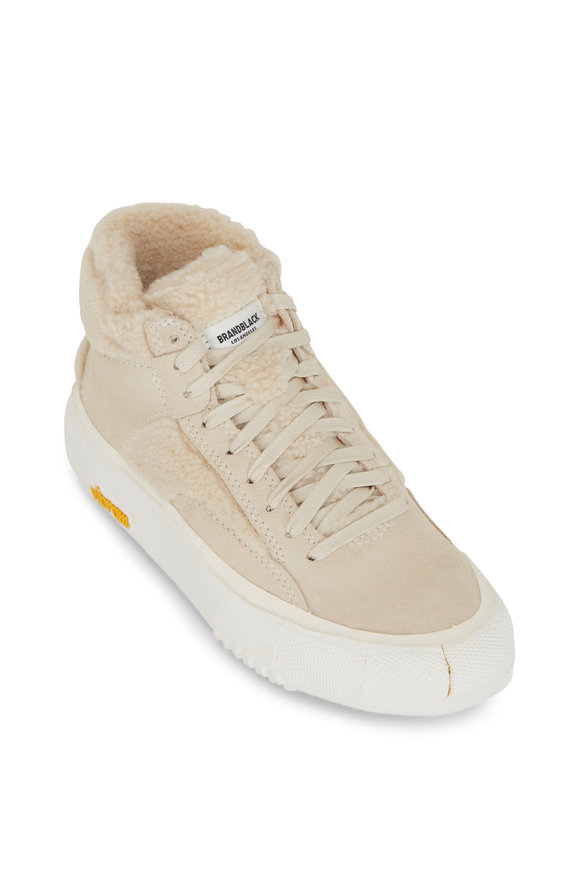 BRANDBLACK Natural Faux Shearling High-Top Sneaker