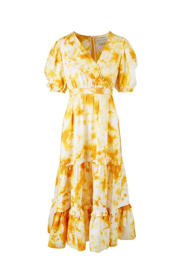 Sachin + Babi Maelen Yellow Tie Dye Dress