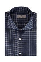 Canali - Navy & Gray Plaid Sport Shirt