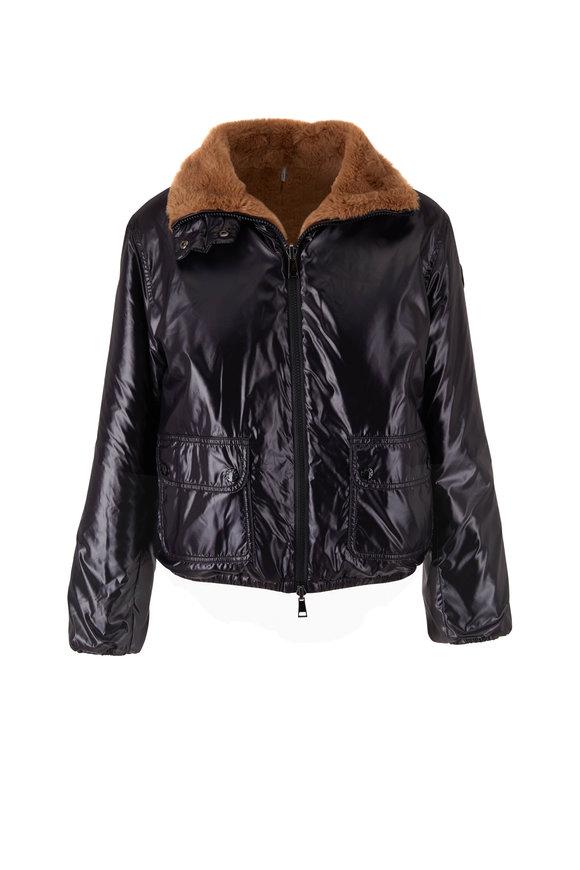 Moncler Adoxe Black & Camel Faux Fur Reversible Jacket