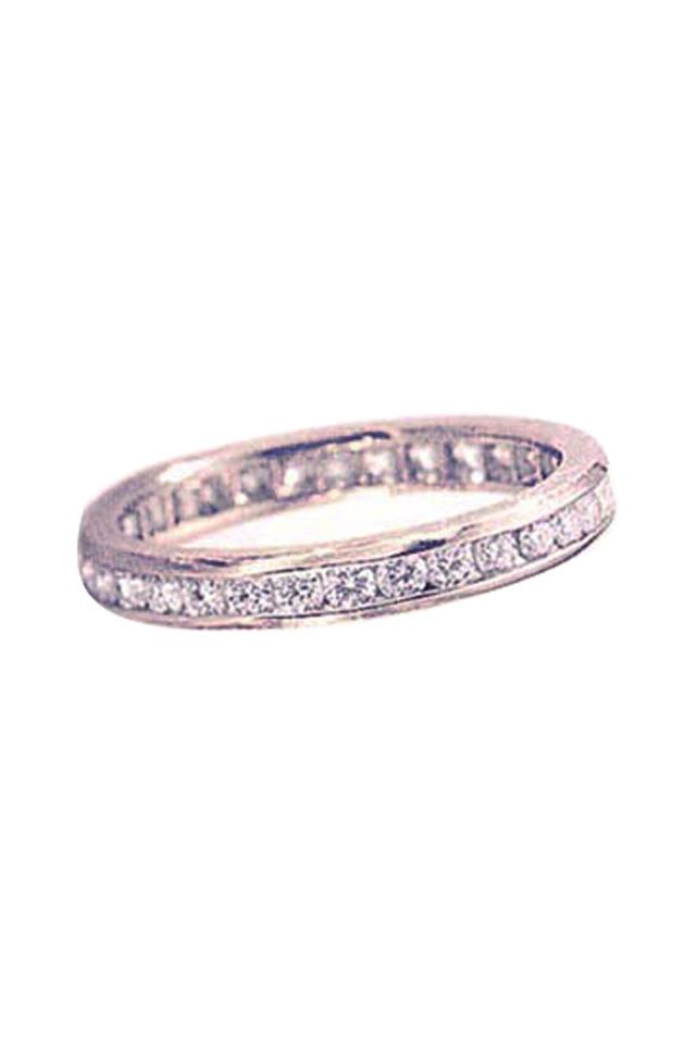Platinum Channel Set Diamond Guard Ring