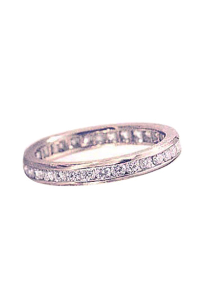 Oscar Heyman - Platinum Channel Set Diamond Guard Ring