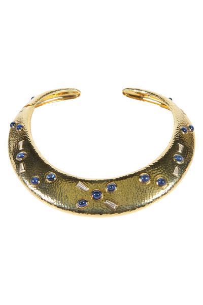 Assael - Sapphire Diamond Gold Necklace