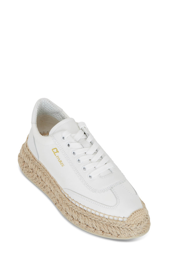 Christian Louboutin Espasneak White Leather Sneaker