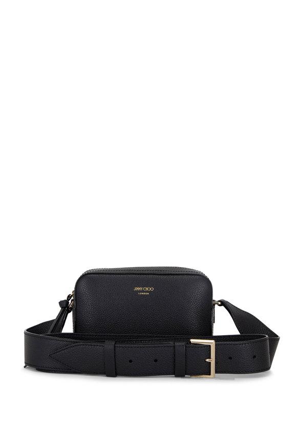 Jimmy Choo Pegasi Black Soft Grain Leather Camera Bag
