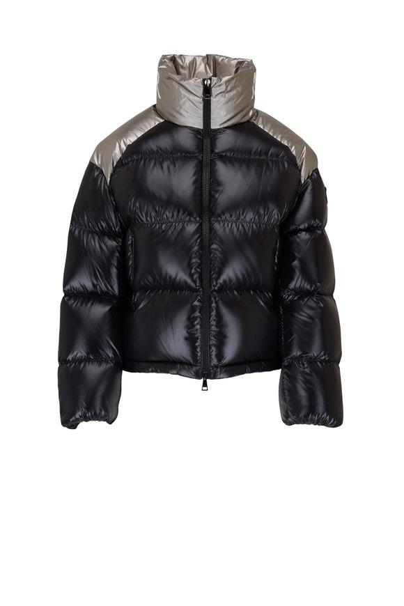 Moncler Cuscute Black & Silver Puffer Coat