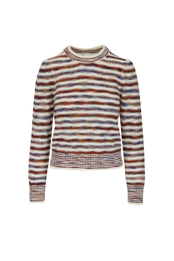 Veronica Beard Raissa Multi Stripe Crewneck Sweater