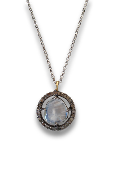 Loriann - Gold And Silver Moonstone Necklace