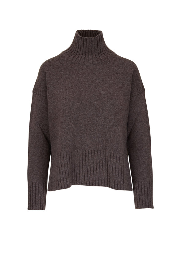 CO Collection Brown Wool & Cashmere Turtleneck Sweater