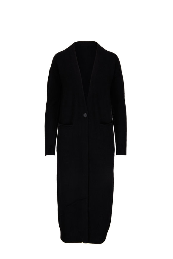 CO Collection Black Long Cashmere Cardigan