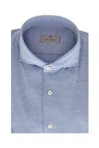 Canali - Light Blue Micro Neat Sport Shirt