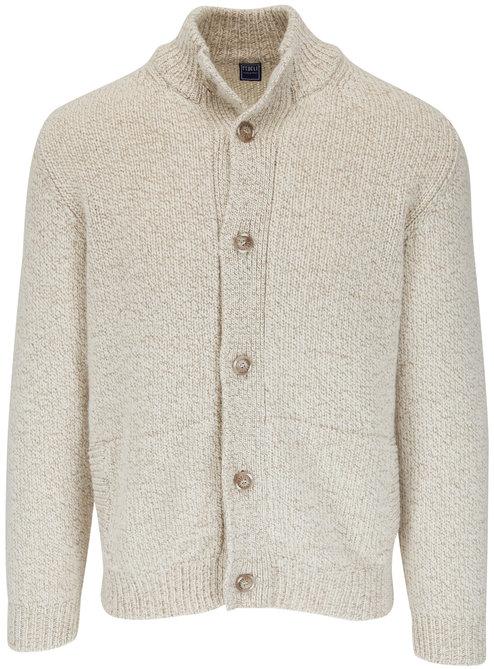 Fedeli Oat Cashmere & Wool Cardigan