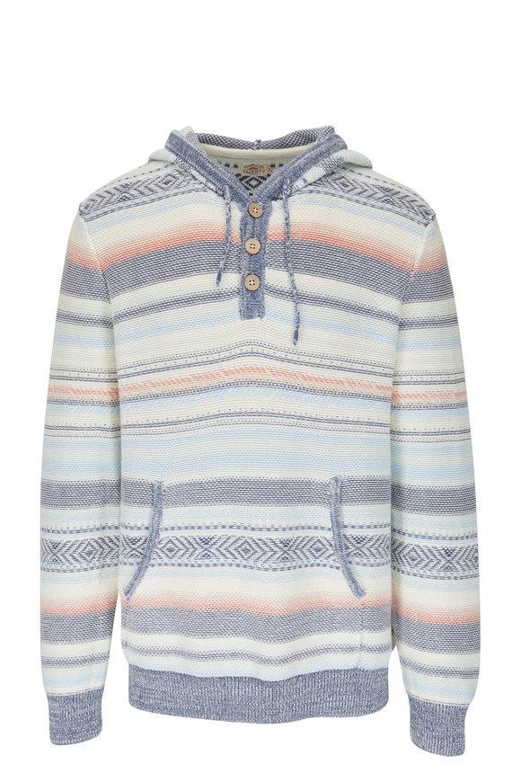 Faherty Brand Cove Multicolor Sierra Sweater Poncho