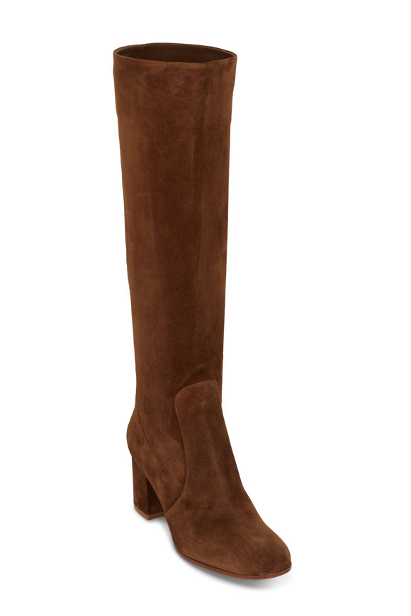 Gianvito Rossi Glen Texas Cognac Suede Tall Boot, 60mm