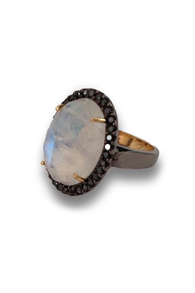 Loriann - Black Diamond Moonmagic Ring