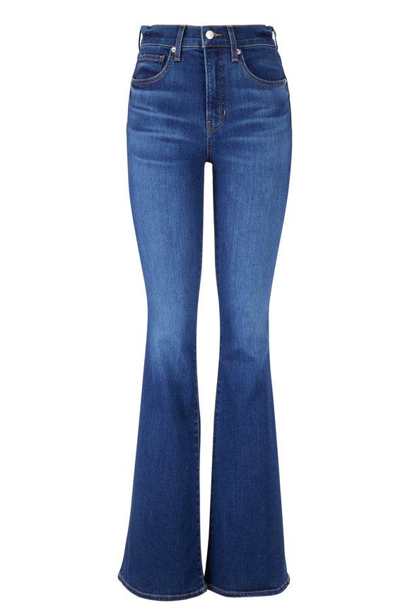 Veronica Beard Beverly Bright Blue High-Rise Skinny Flare Jean