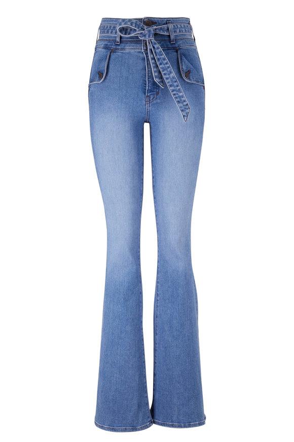 Veronica Beard Giselle Amethyst Flare Belted Skinny Jean