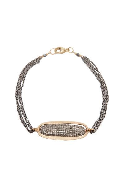 Dana Kellin - Yellow Gold & Silver Diamond Bracelet