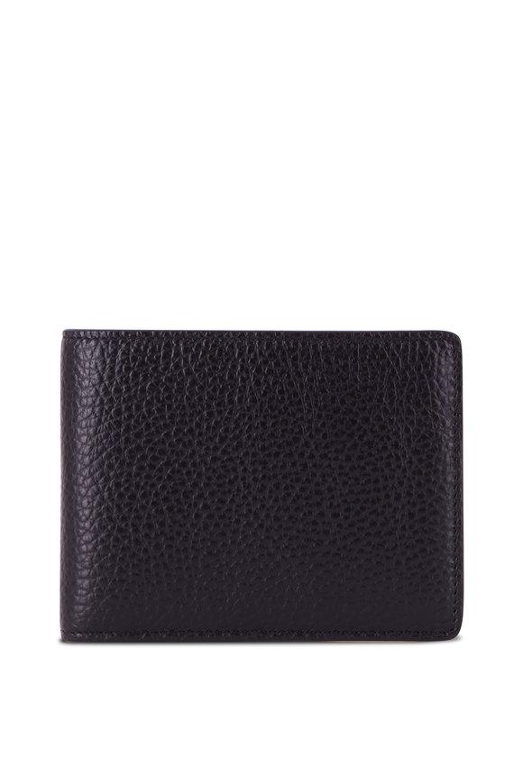 Bosca Monfrini Black Leather Bi-Fold Wallet